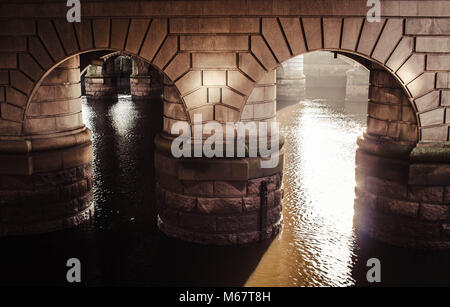 Underneath the arches - Stock Image