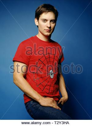 TOBEY MAGUIRE, SPIDER-MAN, 2002 - Stock Image