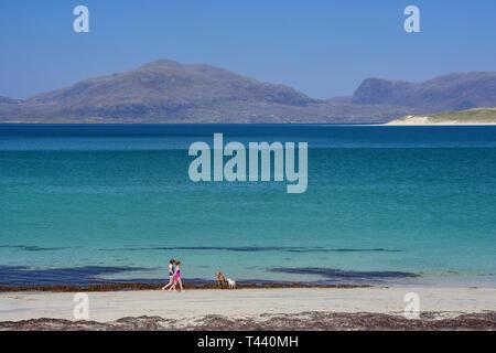 Traigh Horgabost Beach, Isle of Harris, Outer Hebrides, Na h-Eileanan Siar, Scotland, United Kingdom - Stock Image