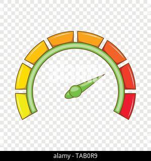 Sport car speedometer icon, cartoon style - Stock Image