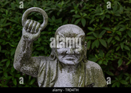 Rakan at Eirinji - Rakan and Arhat statues represent the 500 disciples of Buddha. Although many Buddhist sculptures are carved to represent exquisite - Stock Image