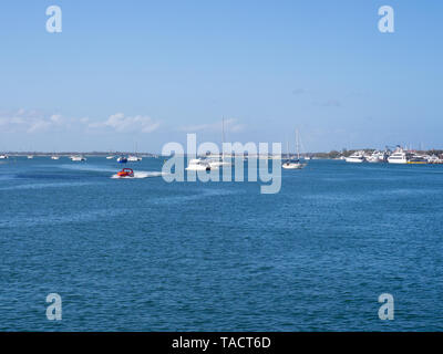 Boats On The Water At Surfers Paradise - Stock Image