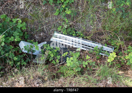 fly tipping in Buckinghamshire - Stock Image