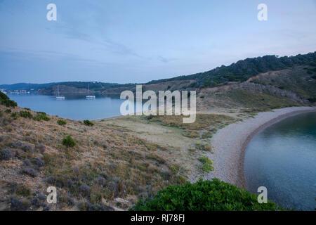 Ankerbucht auf der Insel Rab, Kroatien - Stock Image