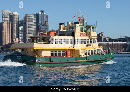 Sydney Harbour Ferry on Sydney Harbour - Stock Image