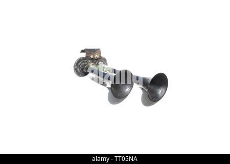 Horn on isolated white background - Stock Image