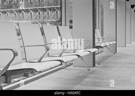LONDON, UK - APRIL 28 2013: A view of the seats in the Charles Darwin Center at the Natural History Museum. With - Stock Image