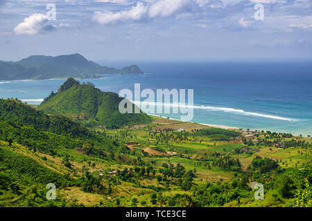 Torok aik belek beach, Selong Belanak, Lombok, Indonesia - Stock Image