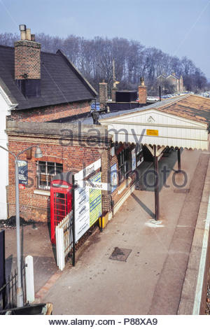 Milford Station, a British Rail railway station in Surrey, UK – (1980s) 1984 - Stock Image