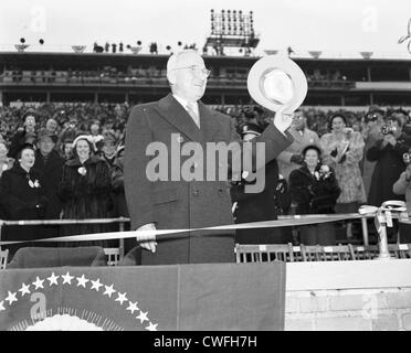 President Harry Truman attending the Army Navy football game, at Municipal Stadium, Philadelphia, PA, December, - Stock Image