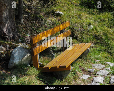 Resting place bench - Stock Image