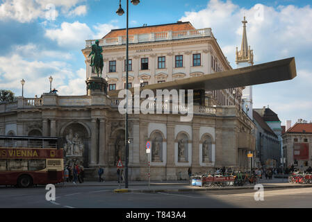 Albertina Vienna, view of the Albertina building - former Habsburg imperial apartments that now house an extensive modern art collection, Austria. - Stock Image