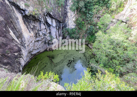 The Crater is a diatreme in Hypipamee National Park, Atherton Tableland,  Far North Queensland, FNQ, QLD, Australia - Stock Image