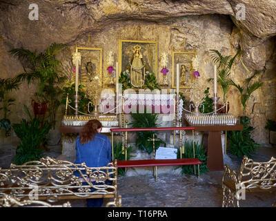 Hermitage Virgen de La Peña. Mijas Pueblo, Málaga, Spain. - Stock Image