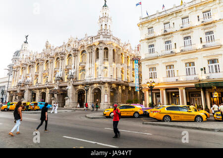 Gran Teatro De La habana, Gran Teatro de La Habana, The Great Theatre of Havana , opened in 1838. Building, exterior, - Stock Image