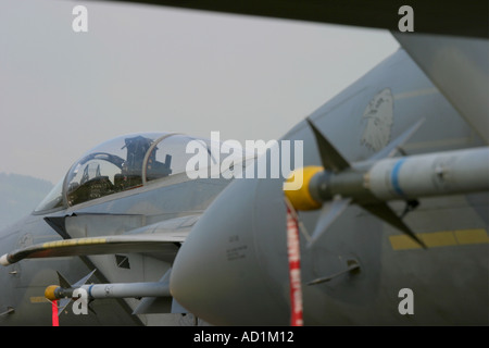 Military aircraft armed - Stock Image