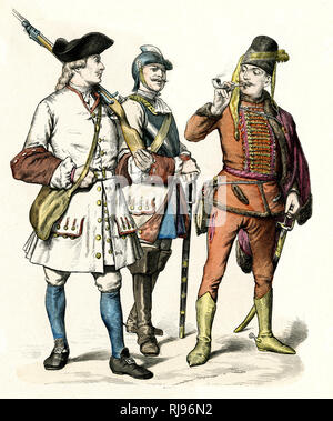 Austrian soldiers. - Stock Image