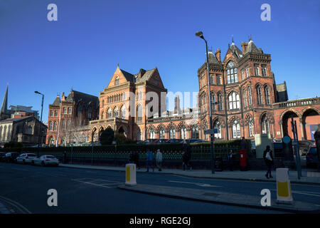 Leeds General Infirmary Victorian Gothic frontage in Great George Street, Leeds opened in 1868 in Leeds, West Yorkshire U.K. - Stock Image