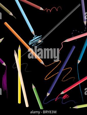 Drawing Pencils - Stock Image