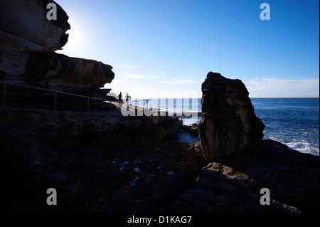 Bondi to Bronte beach coast walk Sydney Australia - Stock Image