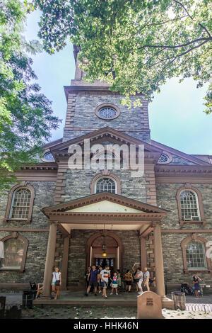 St Paul Church Facade New York City - Stock Image