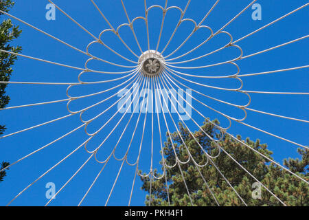 gazebo roof detail in a garden - Stock Image