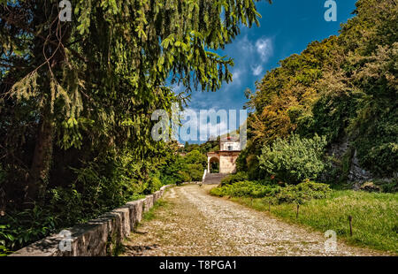 Italy Lombardy Unesco World heritage Site - Sacro Monte di Varese ( Varese sacred Mount ) IX Chapel - climb to the calvary - Stock Image