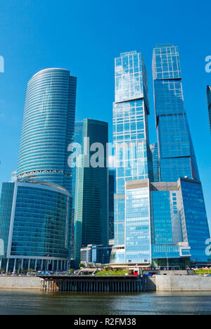 City of Capitals buildings, MIBC, Moscow International Business Center, Moscow City, Moscow, Russia - Stock Image
