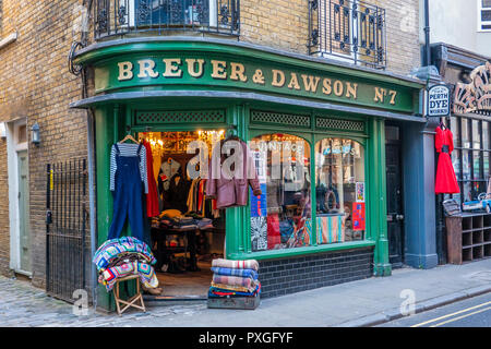 Vintage Clothes Shop,Margate Old Town,Margate,Thanet,Kent,England - Stock Image