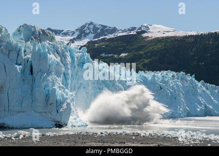 Meares Glacier, Prince William Sound, Chugach National Forest, Alaska. - Stock Image