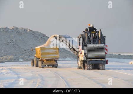 Botswana Ash, Salt Works - Stock Image
