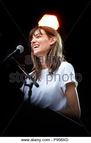 Aix-les-Bains, France . 14th July 2018. Charlotte Cardin performing live at Musilac festival in Aix-les-Bains (France) - 14 July 2018 Credit: Olivier Parent/Alamy Live News - Stock Image