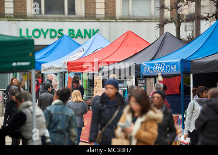 Detail of Street food market stalls in Lyric Square, near Hammersmith. - Stock Image
