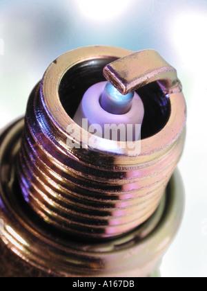 Spark plug close up - Stock Image