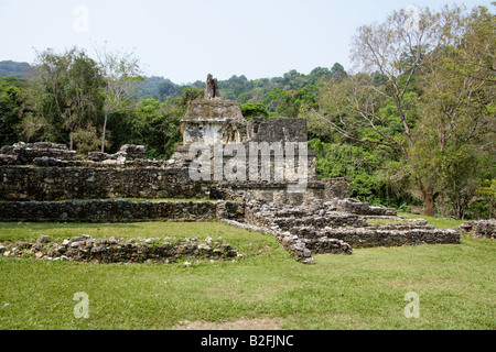 Palenque Archealogical Site, Chiapas State, Mexico - Stock Image