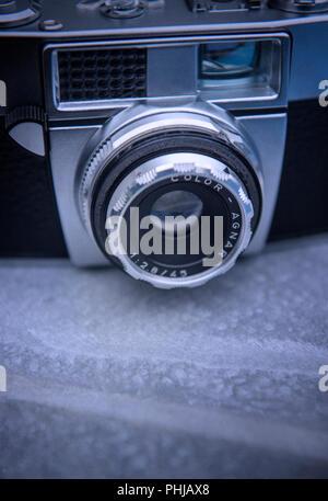 Still life of an old film camera - Stock Image