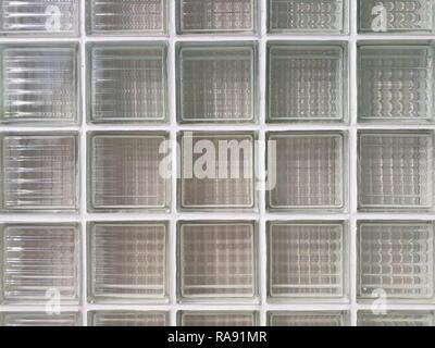 glass block wall background - Stock Image