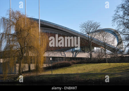 The Haus der Kulturen der Welt (House of World Cultures) in Berlin seen from the river Spree side. - Stock Image