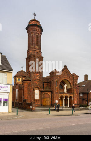 St Boniface Church, a Catholic church in the Freemantle and Shirley districts along Shirley Road in Southampton, Hampshire, England, UK - Stock Image