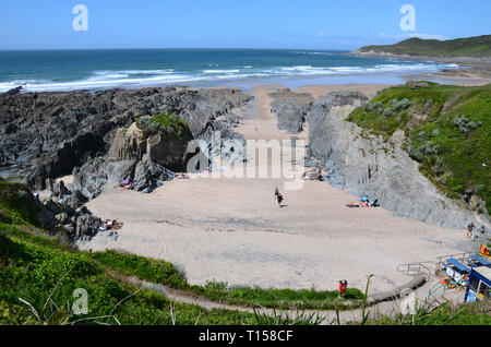 Barricane Beach, near Woolacombe Bay, Devon, UK - Stock Image