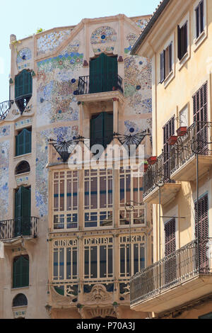 Spain, Balearic Islands, Mallorca, Palma de Mallorca, Placa Mayor - Stock Image