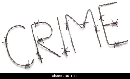 Barbwire crime - Stock Image