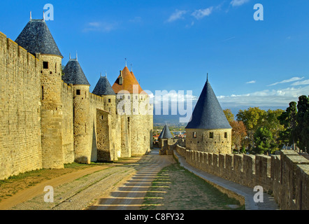 East walls of carcassonne - Stock Image