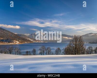 Tegernsee Lake in Winter, Bavaria, Germany - Stock Image