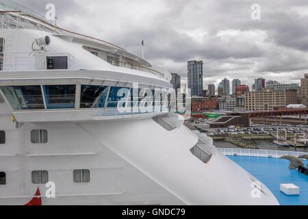 Norwegian Sun Cruise Ship Bridge Close Up Detail - Stock Image