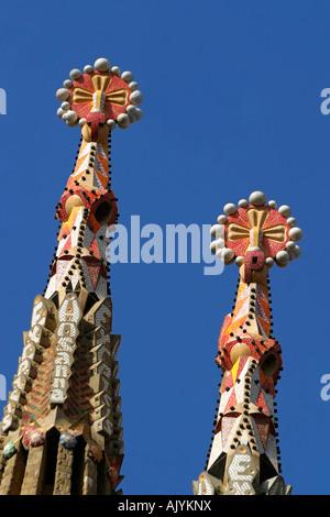 The Sagrada Familia by Antoni Gaudi in Barcelona, Spain - Stock Image