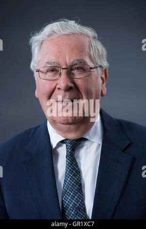 Former Governor of the Bank of England and Chairman of its Monetary Policy Committee Mervyn King KG, GBE, DL, FBA. - Stock Image
