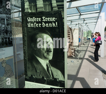 Exhibition Topography of Terror which is on the site of the former Gestapo Headquarters in Berlin Germany - Stock Image