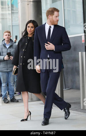 Duke and Duchess of Sussex visit Newzealand House - Arrivals  Featuring: Duchess of Sussex, Duke of Sussex, Meghan Markle, Prince Harry Where: London, United Kingdom When: 19 Mar 2019 Credit: Lia Toby/WENN.com - Stock Image