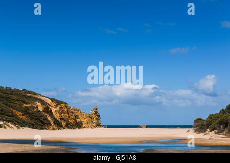 Aireys Inlet by Split Point in Victoria, Australia. - Stock Image